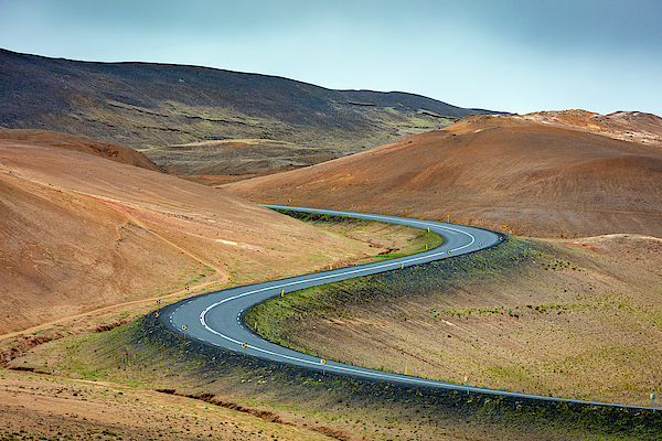 Volcanic Road in Hverir Iceland by Pierre Leclerc Photography